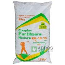 Комплексное минеральное удобрение для газона Complex Fertilizer (Комплекс), 25кг, NPK 25.15.10+МЕ, TM Rosla (Росла)