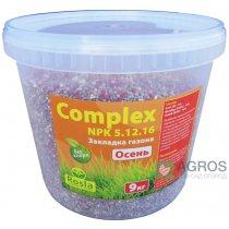 Комплексное минеральное удобрение для газона Complex (Комплекс), 9кг, NPK 5.12.16+МЕ, Осень, TM Rosla (Росла)