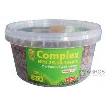 Комплексное минеральное удобрение для газона Complex (Комплекс), 2.5кг, NPK 25.10.10+ME, Весна-Лето, TM Rosla (Росла)