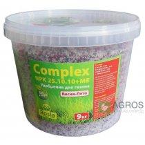 Комплексное минеральное удобрение для газона Complex (Комплекс), 9кг, NPK 25.10.10+ME, Весна-Лето, TM Rosla (Росла)