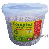Комплексное минеральное удобрение для газона Complex (Комплекс), 9кг, NPK 16.4.8+ME, Лето, TM Rosla (Росла)