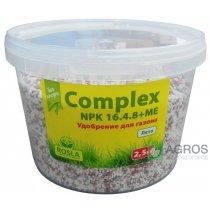 Комплексное минеральное удобрение для газона Complex (Комплекс), 2.5кг, NPK 16.4.8+ME, Лето, TM Rosla (Росла)